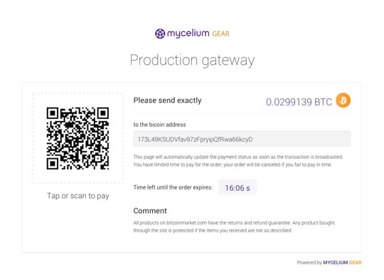Feature payment page